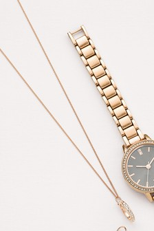 Sterling Silver Pave Detail Circle Necklace
