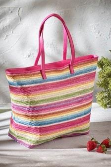 Woven Stripe Tote Bag