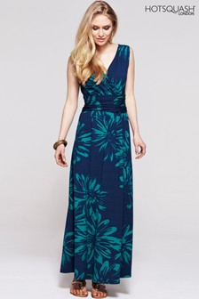 HotSquash Green Flower V-Neck Maxi Dress