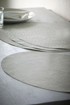 Set of 4 Oval Plastic Placemats