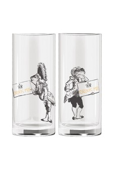 Set of 2 V&A Alice In Wonderland Shot Glasses
