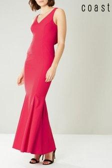 Coast Pink Ruth Structured Maxi Dress