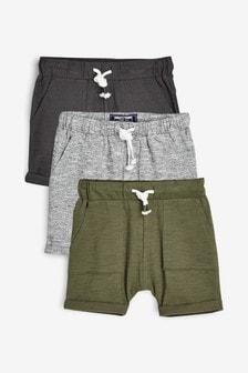 Lightweight Textured Shorts Three Pack (3mths-7yrs)