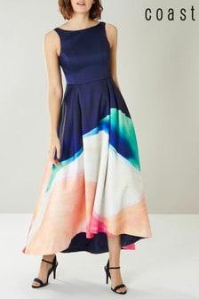 Coast Blue Scarlett Full Midi Printed Maxi Dress