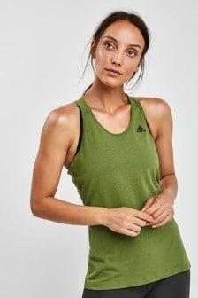 adidas Olive Prime 3 Stripe Vest