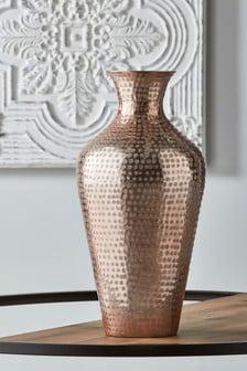 Blush Metal Vase