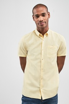 Linen/Cotton Short Sleeve Shirt