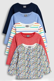 Long Sleeve T-Shirt Five Pack (3mths-7yrs)