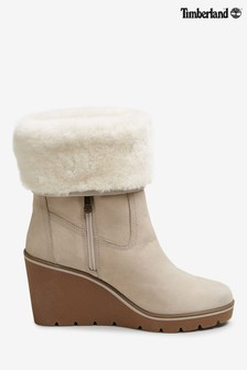 Timberland® Taupe Nubuck Paris Height Wedge Boots