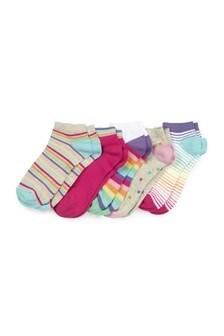 Rainbow Trainer Socks Five Pack