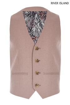 River Island Pink Suit Waistcoat