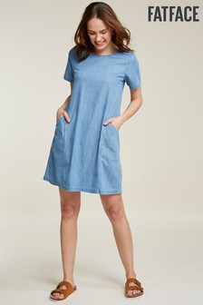FatFace Blue Simone Denim Dress