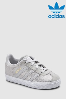 adidas Originals White/Grey Gazelle Infant