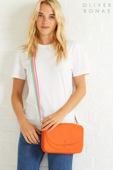 Oliver Bonas Orange Elana Cross Body Bag
