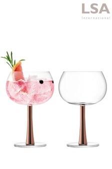 Set of 2 LSA International Copper Gin Glasses