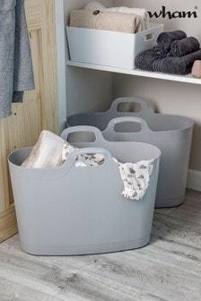 Set of 2 Wham 40Ltr Plastic Flexi-Bag Storage