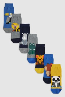 Animals Socks Seven Pack (Younger)
