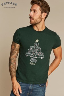 FatFace Green VW Tree Of Campers Graphic Tee