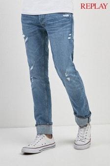Replay® Rip & Repair Grover Straight Fit Jean