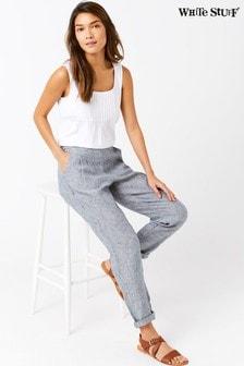 White Stuff Grey Maison Linen Trouser