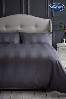 Silentnight Satin Stripe Duvet Cover and Pillowcase Set