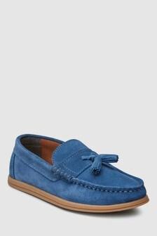Italian Suede Tassel Loafers (Older)