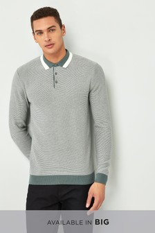 Tipped Collar Knitted Polo