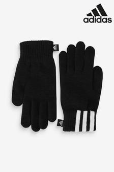 adidas Black 3 Stripe Gloves