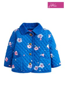 Joules Pink Mabel Floral Quilted Jacket