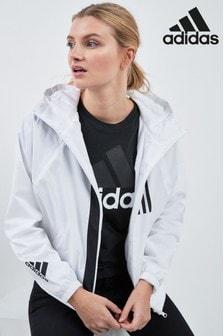 adidas White WND Wind Breaker Jacket