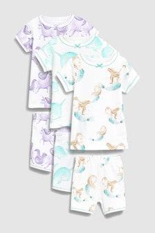 Character Short Pyjamas Three Pack (9mths-8yrs)