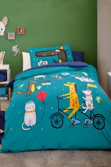 Party Animal Duvet Cover and Pillowcase Set