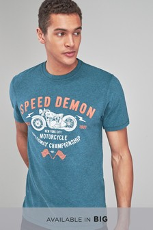 Soft Touch Motorbike Graphic T-Shirt