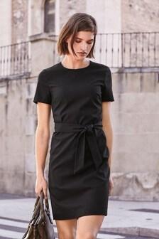 Tie Waist Shift Dress
