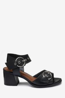 Signature Buckle Detail Sandals