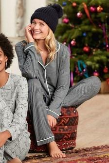 Stripe Button Through Pyjamas
