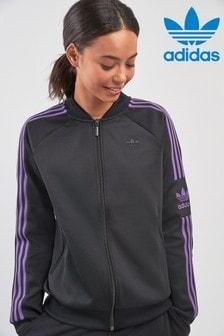 new style 2d894 5648d adidas Originals Black 70s Track Top