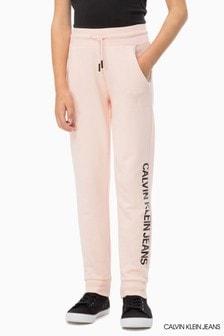 Calvin Klein Jeans Pink Logo Sweat Pant