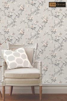Fine Décor Stone Chinoiserie Floral Wallpaper