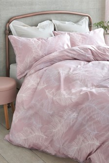 Feathers Printed Duvet Cover and Pillowcase Set