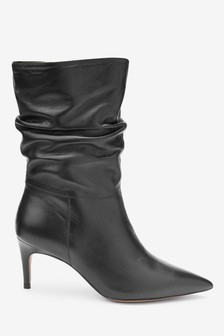 Forever Comfort® Leather Slouch Boots