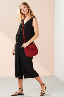 Maternity Button Down Jumpsuit