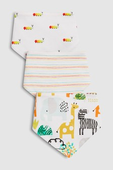 Character/Stripe Dribble Bibs Three Pack