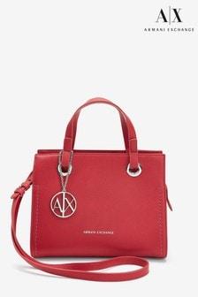 Armani Exchange Red Logo Tote Bag