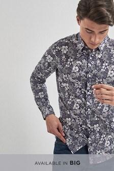 Smart Long Sleeve Floral Print Shirt