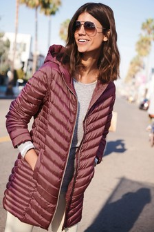 Long Wadded Packable Jacket