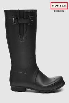 Hunter Mens Original Tall Black Adjustable Welly