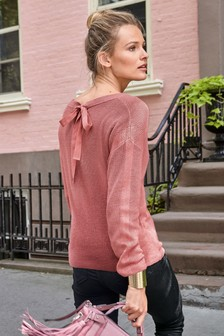 Luxe Tie Back Sweater