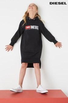 Diesel® Kids Black Hooded Dress