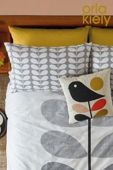 Set of 2 Orla Kiely Placement Scribble Stem Cotton Pillowcases